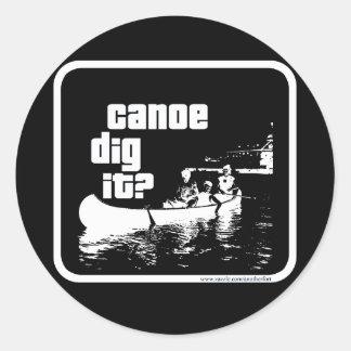 Canoe Dig It? Classic Round Sticker
