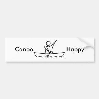 Canoe Happy 01, Car Bumper Sticker