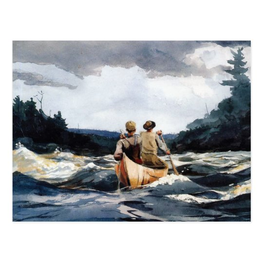 Canoe in Rapids by Winslow Homer Postcard