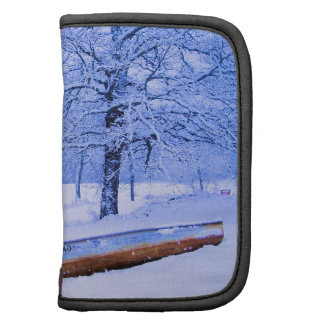 Canoe in Snow Folio Planners