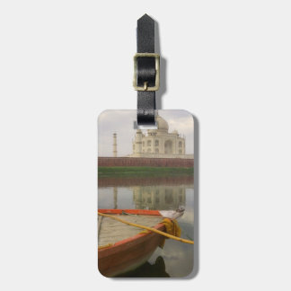 Canoe in water with Taj Mahal, Agra, India Luggage Tag