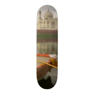 Canoe in water with Taj Mahal, Agra, India Skate Deck
