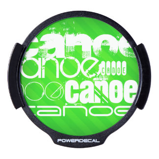 Canoe; Neon Green Stripes LED Window Decal