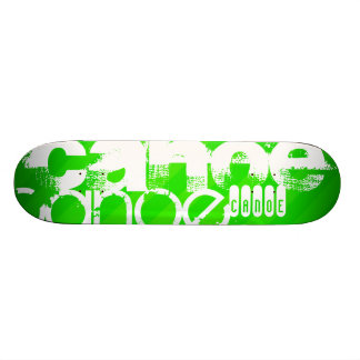 Canoe; Neon Green Stripes 21.6 Cm Old School Skateboard Deck