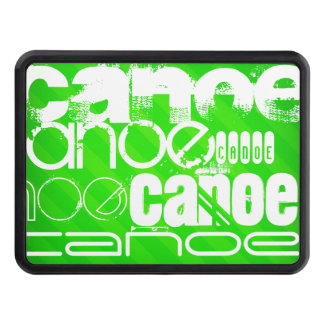 Canoe; Neon Green Stripes Hitch Cover