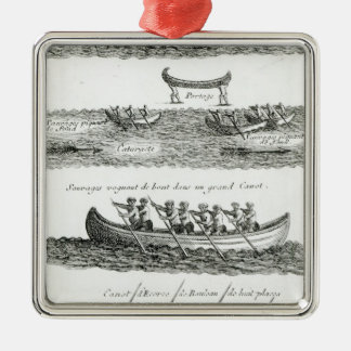 Canoe of the Iroquois Christmas Ornament