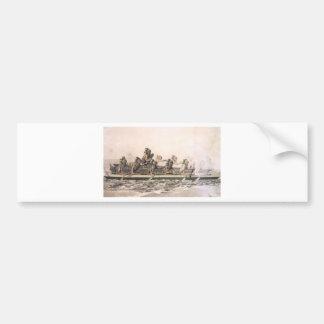 Canoe of the Sandwich Islands. Hawaii. c. 1778 Bumper Sticker