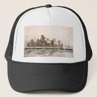 Canoe of the Sandwich Islands. Hawaii. c. 1778 Trucker Hat