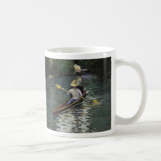 Canoe on the Yerres River - Gustave Caillebotte Coffee Mug