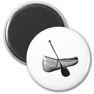 Canoe & Paddle 6 Cm Round Magnet