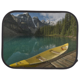 Canoe parked at a dock along Moraine Lake, Banff Car Mat