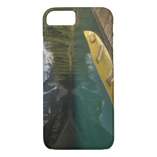 Canoe parked at a dock along Moraine Lake, Banff iPhone 8/7 Case
