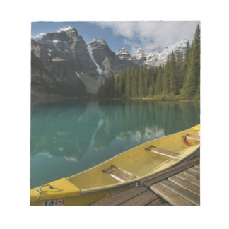 Canoe parked at a dock along Moraine Lake, Banff Notepad