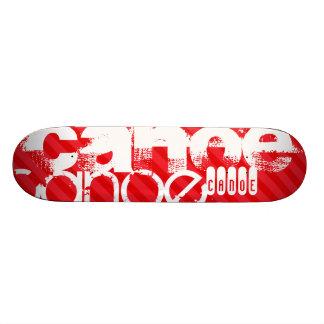 Canoe; Scarlet Red Stripes Skateboard Decks