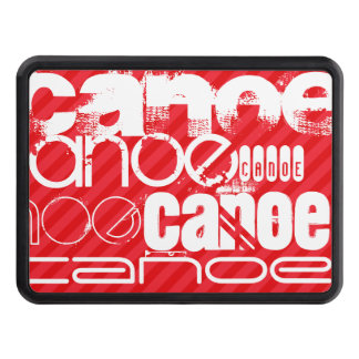 Canoe; Scarlet Red Stripes Hitch Cover