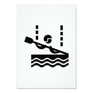 Canoe slalom 9 cm x 13 cm invitation card