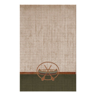Canoe Trip Camping Vacation Stationery