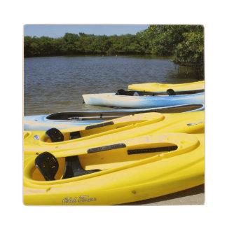 Canoe Trip Maple Wood Coaster