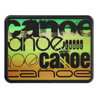 Canoe; Vibrant Green, Orange, & Yellow Tow Hitch Covers