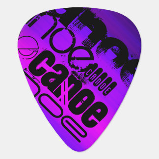 Canoe; Vibrant Violet Blue and Magenta Guitar Pick