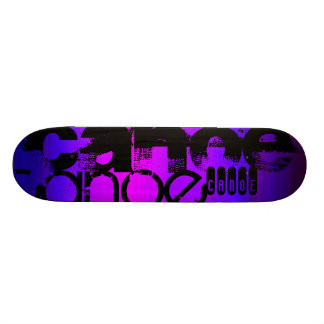 Canoe; Vibrant Violet Blue and Magenta Skate Board Decks