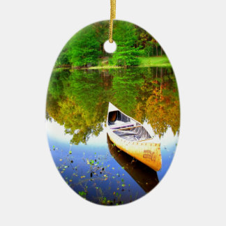canoe water peace and joy christmas ornament