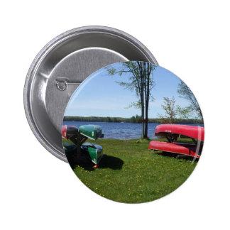 Canoe Water Scene 6 Cm Round Badge