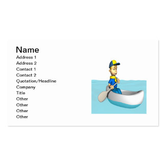 Canoeing 2 business card templates