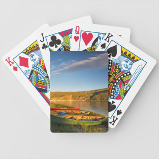 Canoeing Along The White Cliffs Of Missouri Bicycle Playing Cards