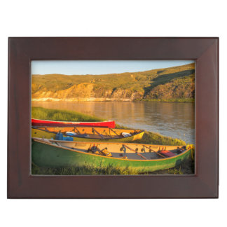 Canoeing Along The White Cliffs Of Missouri Keepsake Box