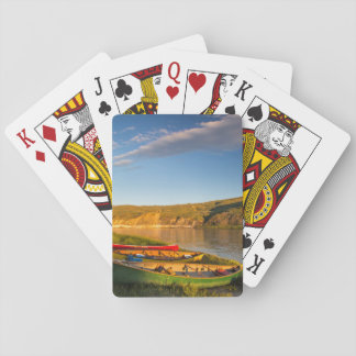 Canoeing Along The White Cliffs Of Missouri Playing Cards