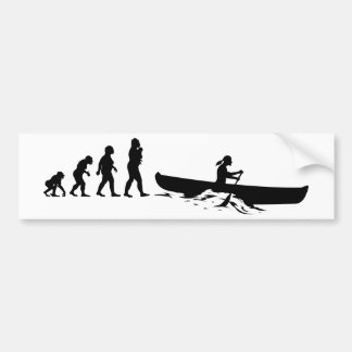 Canoeing Bumper Sticker