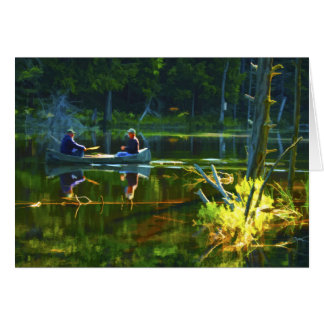 Canoeing in the Adirondacks Greeting Cards