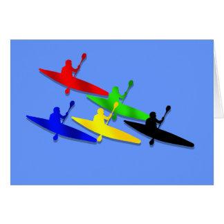 Canoeing Kyaking Canoe kyak water sports Card