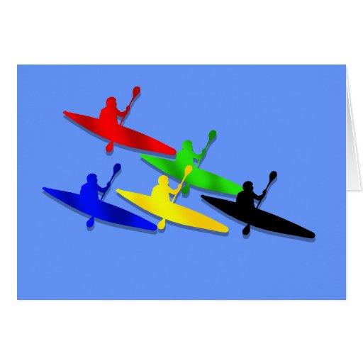 Canoeing Kyaking Canoe kyak water sports Greeting Card