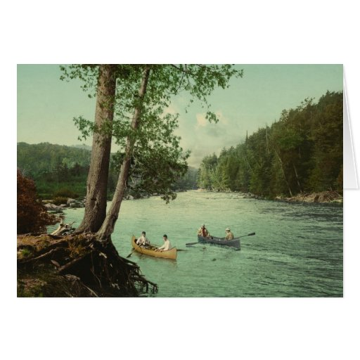 Canoeing on an Adirondack Mountain Stream Cards