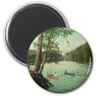 Canoeing on an Adirondack Mountain Stream Magnet