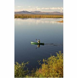 Canoeing on Kanuti Lake Photo Sculpture