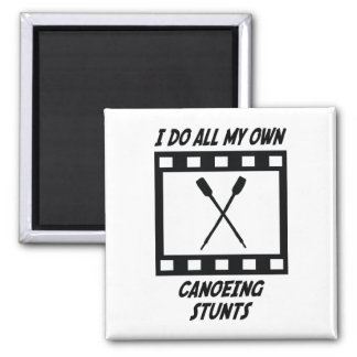 Canoeing Stunts Square Magnet