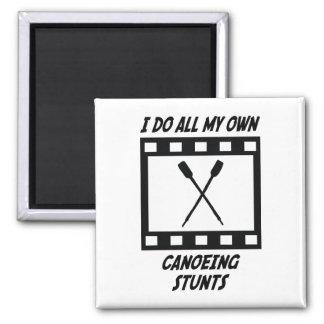 Canoeing Stunts Square Magnet