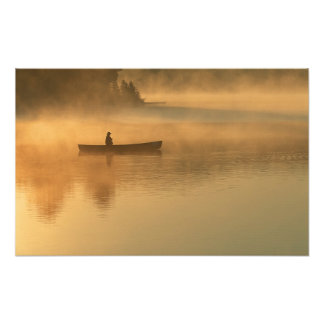 canoeist Algonguin Park Ontario Canada Photo
