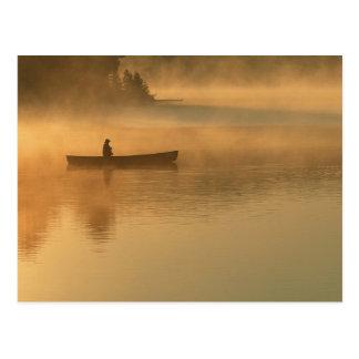 canoeist, Algonguin Park, Ontario, Canada. Post Cards