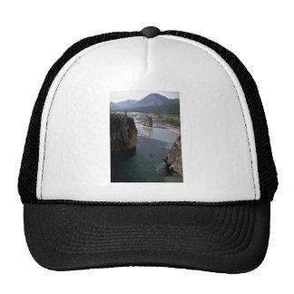 Canoeists, Mountain River, Northwest Territories, Mesh Hat