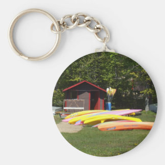 Canoes Basic Round Button Key Ring