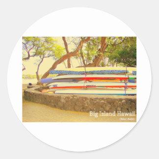 Canoes Big Island Hawaii Sticker