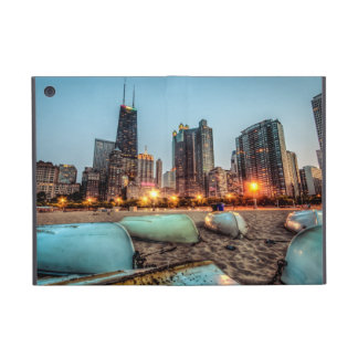 Canoes on Oak Street Beach a little after sunset iPad Mini Case