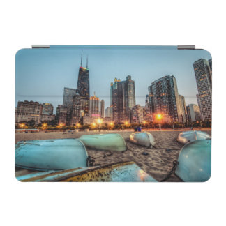Canoes on Oak Street Beach a little after sunset iPad Mini Cover