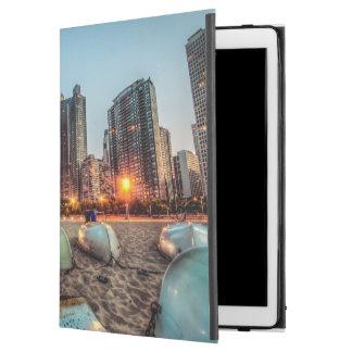 "Canoes on Oak Street Beach a little after sunset iPad Pro 12.9"" Case"