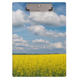 Canola Field & Clouds Clipboard