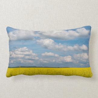 Canola Field & Clouds Lumbar Cushion